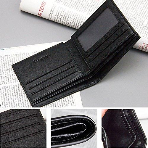 iVotre Minimalistischen Bifold Brieftasche Geprägt, Muster Und Multi - Card Slots, Ultra - Slim Auf Statt In Der Hand, Brandneue Mit Soliden Farben, Gelegenheits - Tasche - Marine sand