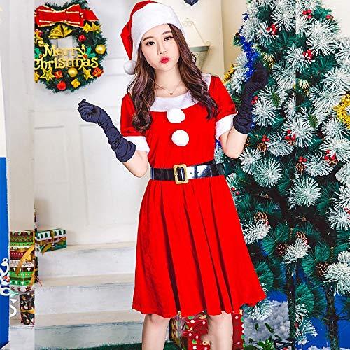 Kostüm Tanz Party Christmas - Yunfeng weihnachtsmann kostüm Damen Adult Christmas Party Tanz Bühne DS Nachtclub Zeigen Kleidung des Kleides der Christmas Rock Kostüm Erwachsene Weihnachtsfeier Cosplay Kostüm
