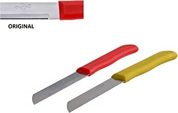 Chef Pro Fruit and Vegetable Knives Set, 19cm, Set of 2, Red and Yellow