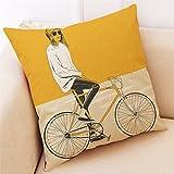 JIJI866 Kissenbezug 45x45cm,Gelb Leinenmischung Kopfkissenbezug Pillowcase Kissen Kopfkissen für Cafe Sofa Schlafsofa Home Festival Party Schlafzimmer (F)