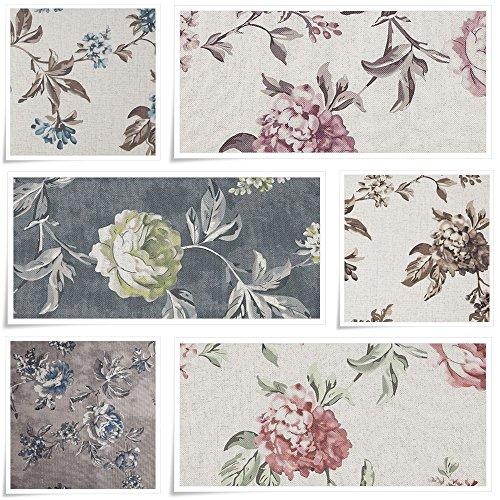 Polsterstoff Dekostoff 0,5lfm 148cm breit Muster Landhausstil Rosen Floral ROS17 - 4