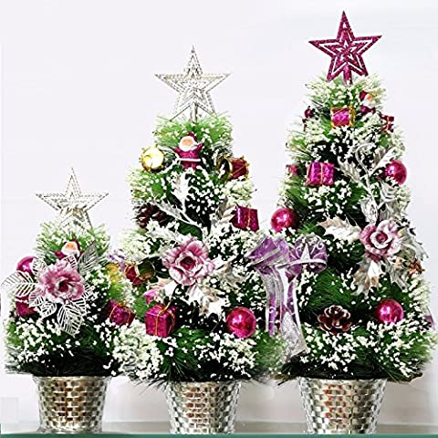 Tianliang04 Weihnachtsbaum Christmas Tree Set, Christmas Tree, Bonsai, Small Snow, Christmas Tree,30Cm Rose