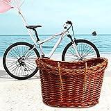 Red Hot Weidenkorb fürs Fahrrad, Fahrradkorb, Korb für Ein Fahrrad, Vintage Stil Weide Korb