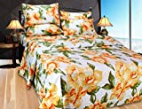 Hargunz cotton Double Bedsheet With 2 Pi...