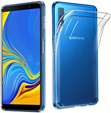 Sanguine Cover Best Quality [Transparent] Perfect Fit Soft Back Case Cover for Samsung A7 2018