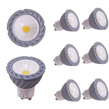 Greenfrog Pack de 6 Bombillas LED GU10, 6W COB LED Equivalente a 50W Lámpara Incandescente, Blanco Cálido 3000K, 560 Lumen, AC 175-265V, 120 ° ángulo de haz ...