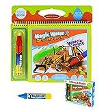 Wasser Wow Malbuch, BBLIKE malbücher mit wasser, wiederverwendbare Water Painting Kits Ein Buch Plus 2 Magic Water Pens für Kinder Zeichnen (Vehicle)