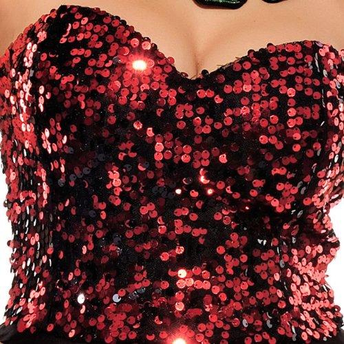 E-Girl Nouvelle frais Falbala Tube Cocktail Soirée Robe, Rouge Rouge