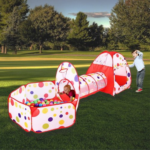 MAIKEHIGH Tente Pop Up Tunnel des enfants Maison de...
