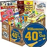 Wilkommen im Club 40 | Geschenke zum 40 Geburtstag | DDR Schoko Box XL