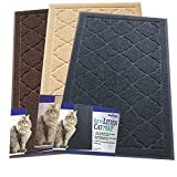 Easyology Premium Cat Litter Tray Mat - XL Super Size - Best Extra Large Scatter Control Kitty Litter Mats for Cats Tracking Litter Out of Their Box - Soft to the Touch- Elegant for Your Home (Gray)