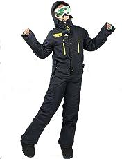 SAENSHING Damen Winter Skianzüge wasserdicht Snowboard Overall EIN Stück