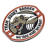 RoadRoma Nuovo Team Honey Badger Military Tactical Army Morale Combat Multicam Patch-Army Green