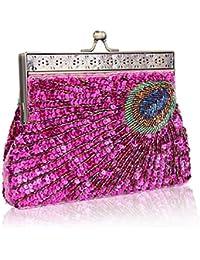 dd7986af3fda Amazon.co.uk: Pink - Clutches / Women's Handbags: Shoes & Bags