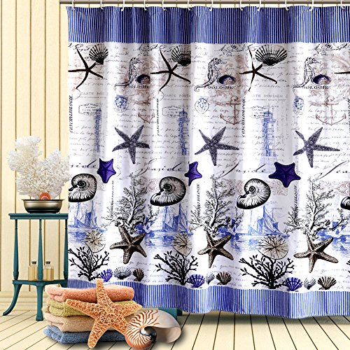 toha-tenda-doccia-blu-scuroanimale-marino-stilepoliestere-impermeabile-e-prova-della-muffa-per-il-ba