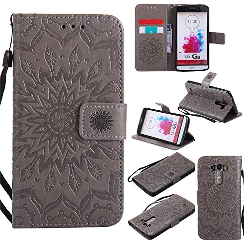 Nutbro LG G3 Custom Phone Cases, LG G3 Case, [Stand Feature] Premium Magnetic PU Leather Wallet With Card Slot Folio Flip Case Cover For LG G3