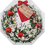 Pack Of 24 Wreath Advent Christmas Scented Tea Light Candles Gift Set