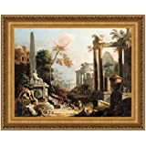 Design Toscano 46X35 LANDSCAPE WITH CLASSICAL RUINS NR preiswert