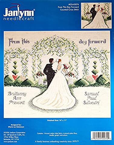 Janlynn Metal From This Day Forward Counted Cross Stitch Kit