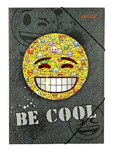 Undercover emca0290cartellina con ELASTICO, Emoji, A3