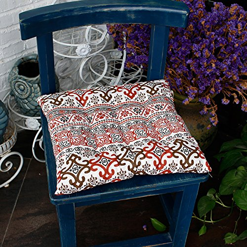 WDZA Le Coussin De Chaise Simple Office Étudiants Classe Pique-Nique Jardin Assise, 42X42Cm, Rouge