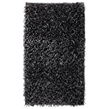 Badteppich 80x160 Kemen Dunkelgrau Silbergrau Taupe Sand Aquanova Langflor, Farbe:Dunkelgrau