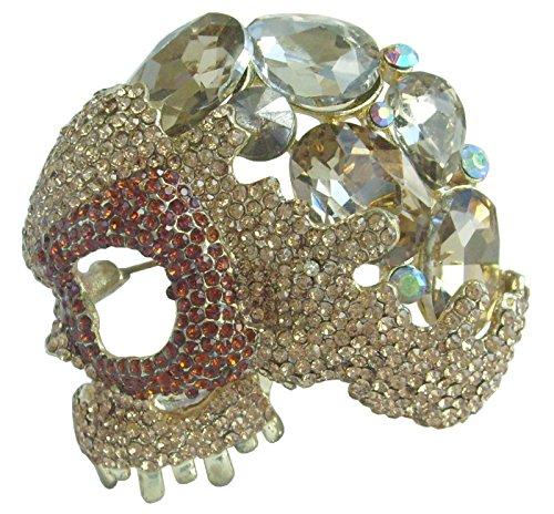 sindary Halloween 2.17'esqueleto Calavera broche Pin topacio...