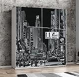 Wohnorama Schweber 170 cm breit Plakato von Forte Motiv New York/Weiss by