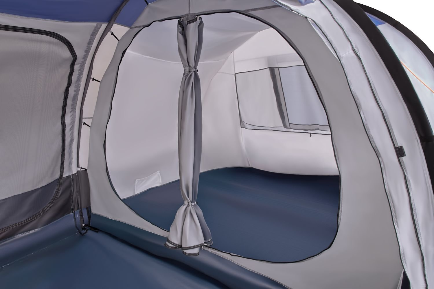 CampFeuer - Tunnel Tent, spacious Camping Tent, 510x360x210 cm, blue/grey - Version 2 6