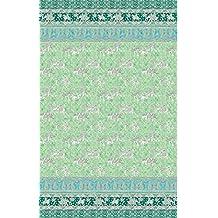 Bassetti Granfoulard.- Conjunto de funda nordica Jasmine color V2 verde para cama de 150 (240x220 cm)