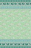 Bassetti Grandfoulard.- Bettwäsche Jasmine V2 vert, 240x220 +40 cm + Spannbettücher 240x270 + 2 kissenbezug 50x80 cm