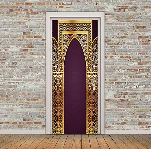 Benutzerdefinierte islamische Muster Tür Aufkleber große Fenster Vinyl Aufkleber Allah selbstklebende Tapete Home Decoration