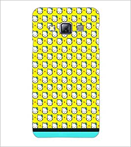 Printdhaba Kitty Pattern D-1775 Back Case Cover For Samsung Galaxy A3