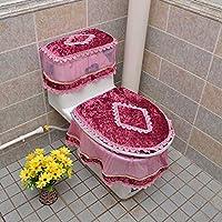 MEI Alfombra de baño Alfombra antideslizante Baño de inodoro de tres piezas Asiento de inodoro de tres piezas para inodoro ( Color : G )