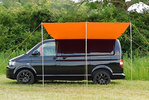 DEBUS Campervan Sun Canopy Awning - Brilliant Orange 1