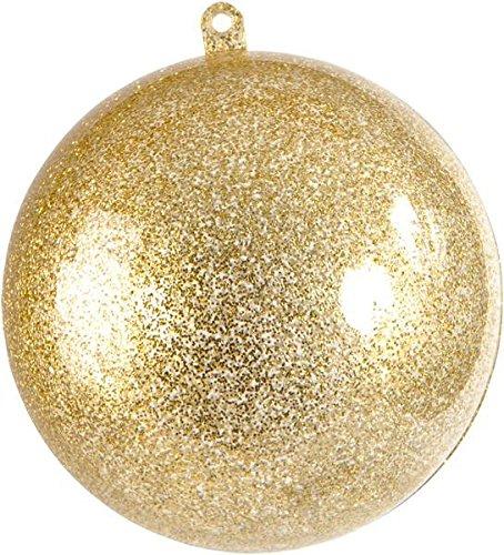 Kunststoff Kugel teilbar, gold ca. 5 cm - 1 Stück. Geschenkverpackung Dekoration stx.3628 (Kunststoff-kugeln 1)
