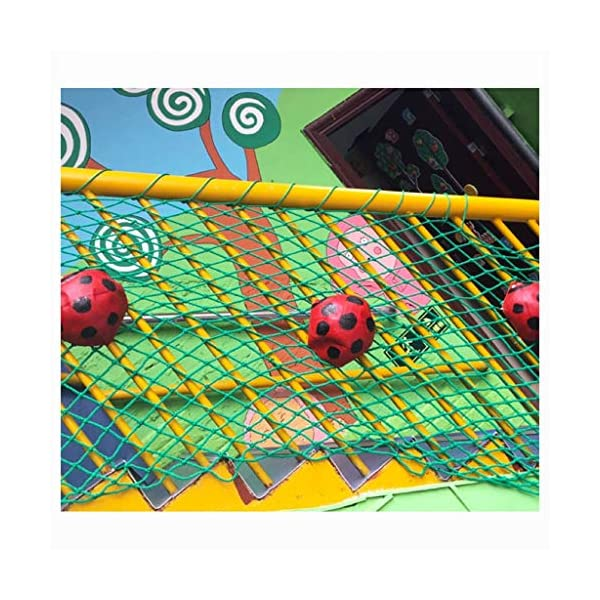 WLnet Child Safety Anti-fall Net, Color Balcony Loft, Stair Railing Protection Net Hand-woven Traditional Structure Nylon Rope Net Mesh 10mm * 6cm (Size: 2 * 3m) (Size : 4 * 9M)  [Anti-fall net preferred material] select high quality nylon material, healthy and environmentally friendly, strong and tough, durable [Anti-fall net double buckle weaving] hand knotted, not easy to off the line, beautiful and strong, [Anti-fall net surrounding rope] has a separate side rope design on four sides, solid fixed, wear-resistant, stable support net 5