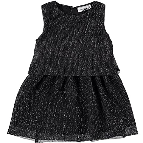 NAME IT Nitidora Spencer Wl F Mini, Robe Bébé Fille, Gris (Black Detail:w Silver Lurex), 92