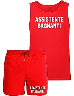 WIXSOO Completo Bagnino Costume Canotta