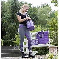 United Sportproducts B445–Germany USG Niños Mia Equitación, todo el año, Mia, infantil, color granate/negro, tamaño 128