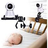 Petyoung Babycamera Monitor Mount Bracket, 360 graden draaibaar verstelbare houder flexibele camera-standaard voor wieg kinde