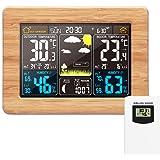Estación meteorológica inalámbrica Reloj digital colorido del pronóstico del tiempo con sensor exterior Termómetro exterior T