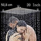 Moderne 50,8 x 50,8 cm Luxus Regendusche Einbau-Duschkopf Deckenbrause Quadrat Überkopfbrause Farbe (Chrom)