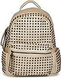 styleBREAKER zaino borsa a mano con borchie, chiusura a cerniera, borsa, da donna 02012226, colore:Oro
