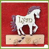 Pferd Garderobe für Namens Gravur