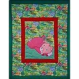 Farbiger Wandbehang für das Kinderzimmer - Schweinchenmotiv - Kinder - Textil Wand Art