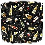 8pulgadas techo Vintage y Retro cerveza y botella de vino copas tulipa para lámpara, diseño de flores 7, 30,5 cm