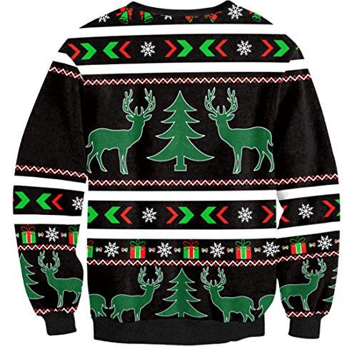 Belsen Damen Sweatshirt schwarz baum X-Large elk