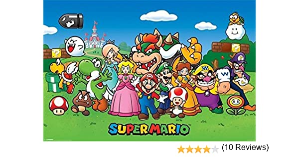 nintendi Super Mario Character Collage Poster Maxi 91,5/x 61/cm 24-Inches x 36-Inches Lamin/é
