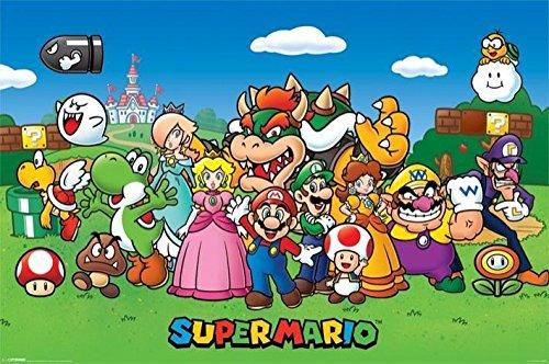 Super Mario Collage Poster (61x91.5cm). Offiziell lizenziert
